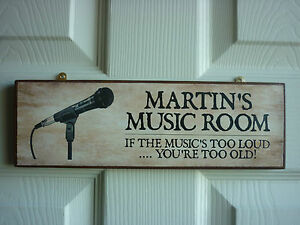 MUSIC-ROOM-SIGN-RECORDING-STUDIO-SIGN-MICROPHONE-SPEAKERS-PERSONALISED-GIFT-SIGN
