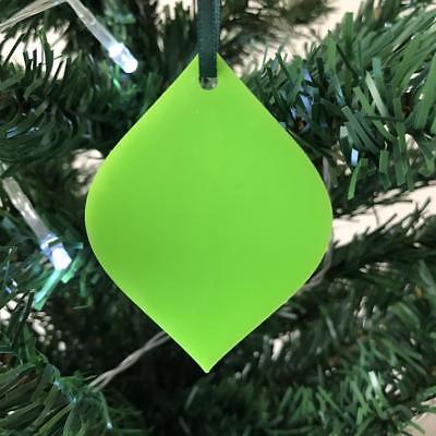 Analitico Diamond Pallina Natale Decs & Nastro Verde, Lime, Arancione, Rosso O Bianco, 7cm O 14cm-mostra Il Titolo Originale 2019 Ultima Vendita Online Stile 50%