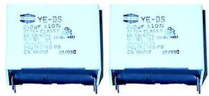 2 MKP Kondensatoren 2,0µF 450Volt ~  RM 32,5mm