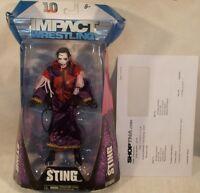 Tna Deluxe Impact Wrestling Exclusive Autographed Nervous Sting Joker Insane