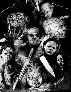 Horror-Classic-T-Shirt-Black-White