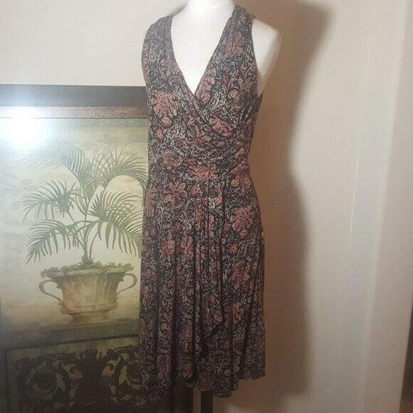 RALPH LAUREN Faux Wrap Dress - Größe Medium Petite