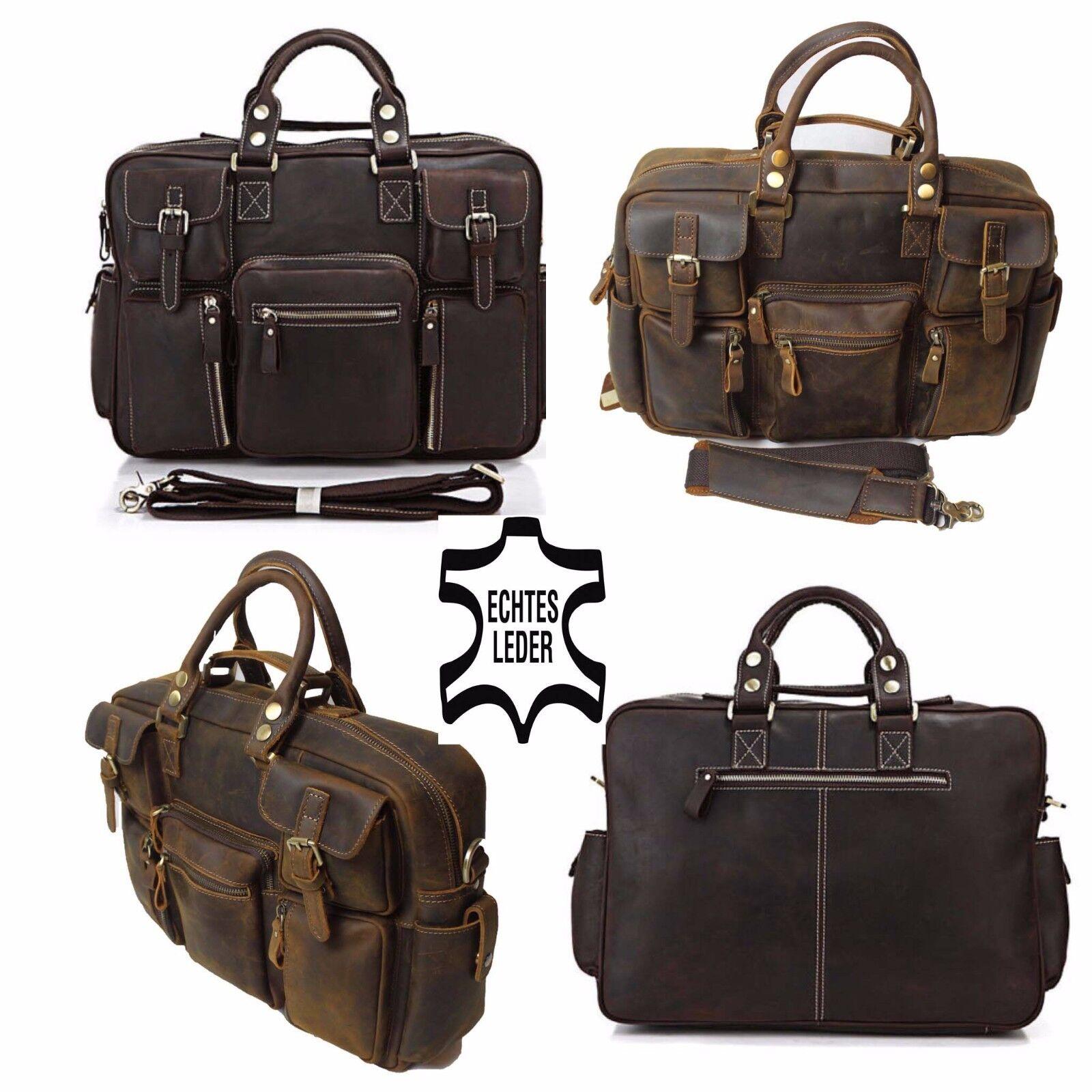 Echtes Leder Aktentasche Schultertasche Braun Messengertasche Umhängetasche 165   Einzigartig    Marke    Kostengünstig