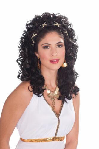 Black Roman Greek Goddess Costume Wig
