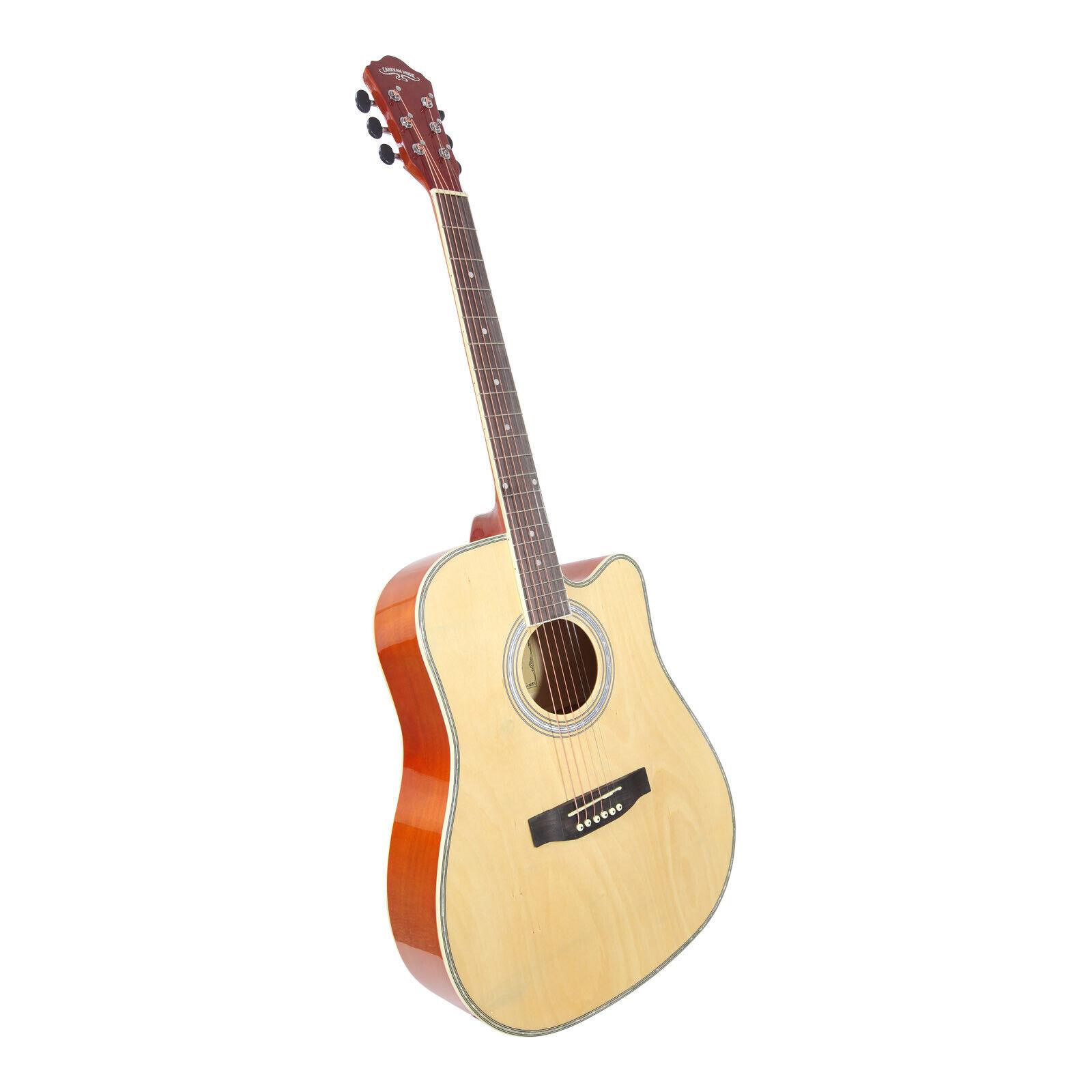 Caravan Music by Acandoo Akustische Gitarre acoustic Westerngitarre Natur finish