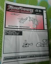 Transformers RID ROTOR INSTRUCTION BOOKLET