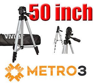 50-034-Vivitar-Aluminum-Camera-Tripod-w-Bubble-Level-amp-Carrying-Case