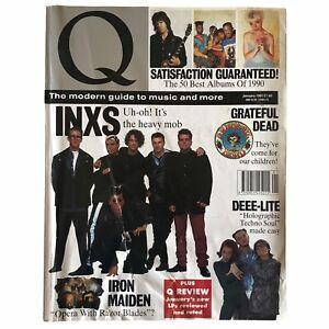 Q Magazine INXS Grateful Dead Iron Maiden Deee-Lite 1991 January Vintage Rare