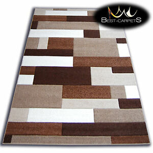 Details About Thick Modern Rugs Pilly Carpets Original Gold Cacao Geometric Carpet