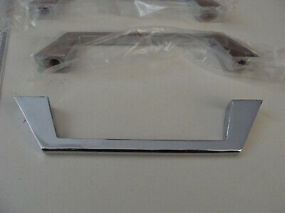 Vtg NOS Stainless Steel Cabinet Drawer Handles Pulls set of 6 Mid-Century Retro