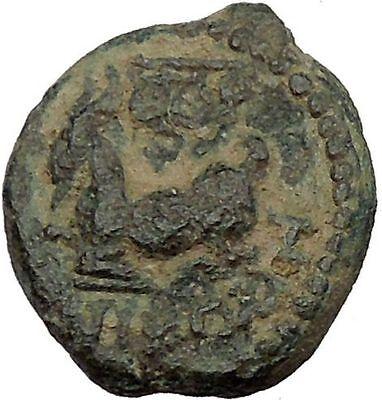 Aigeai in Cilicia 150BC Athena Goat Rare Authentic Ancient Greek Coin i37727