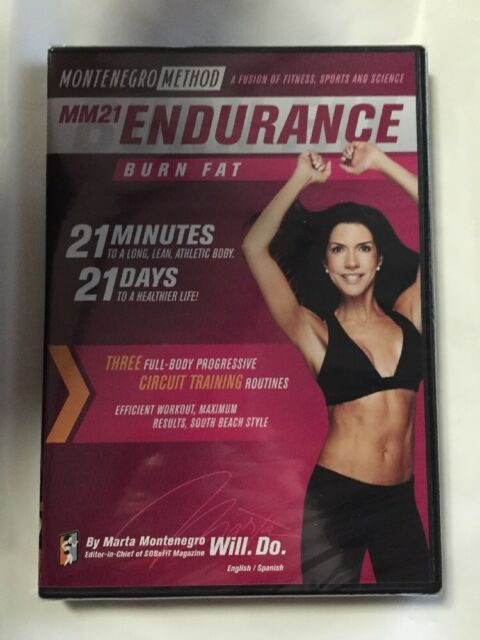 Mm21 Endurance Burn Fat Motenegro Method Workout Video Fitness DVD