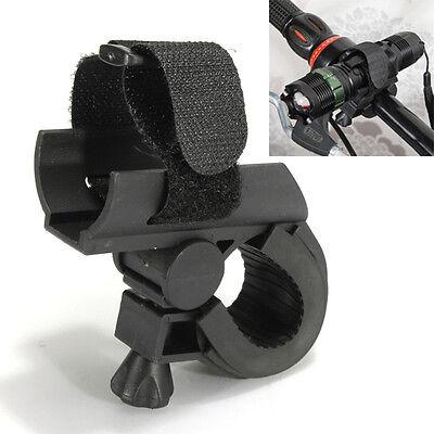 Front Mount LED Flashlight Torch Light Clamp Adjust Holder Clip Bracket Strap