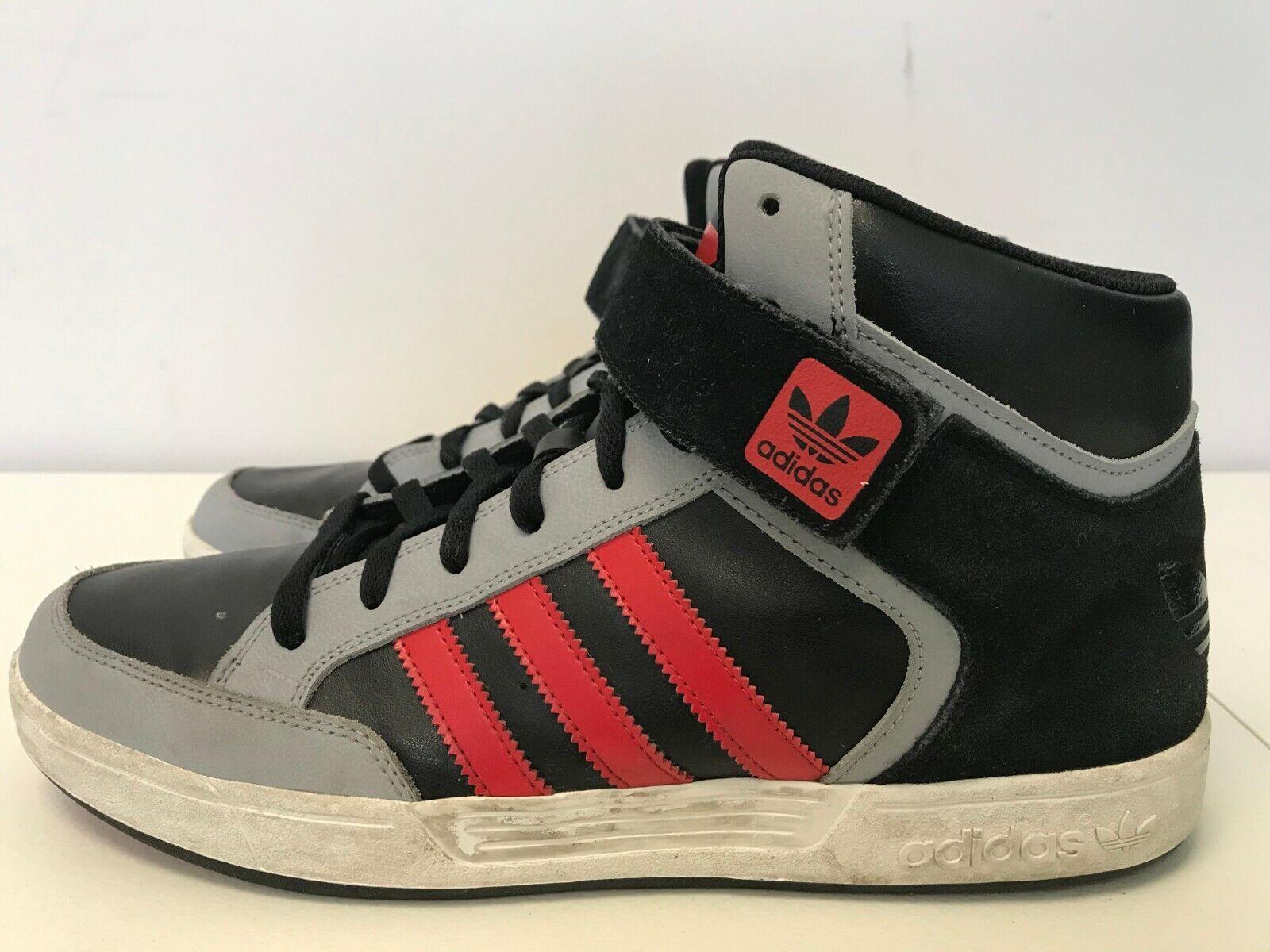 Mens Adidas Varial Mid Black Grey Red G98141 - Gem