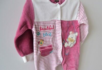 La Pera Baby Kleidung Samt 62 68 Jacke Hose 2 tlg SET Unisex Nicki Strampler Süß