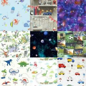 Boys-Bedroom-Wallpaper-10m-Various-Designs-Include-Space-Football-Dino-Cars