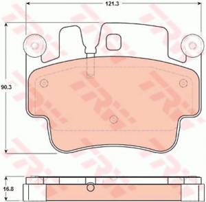 Scheibenbremse Bremsbeläge Bremsklötze TRW GDB1742 Bremsbelagsatz