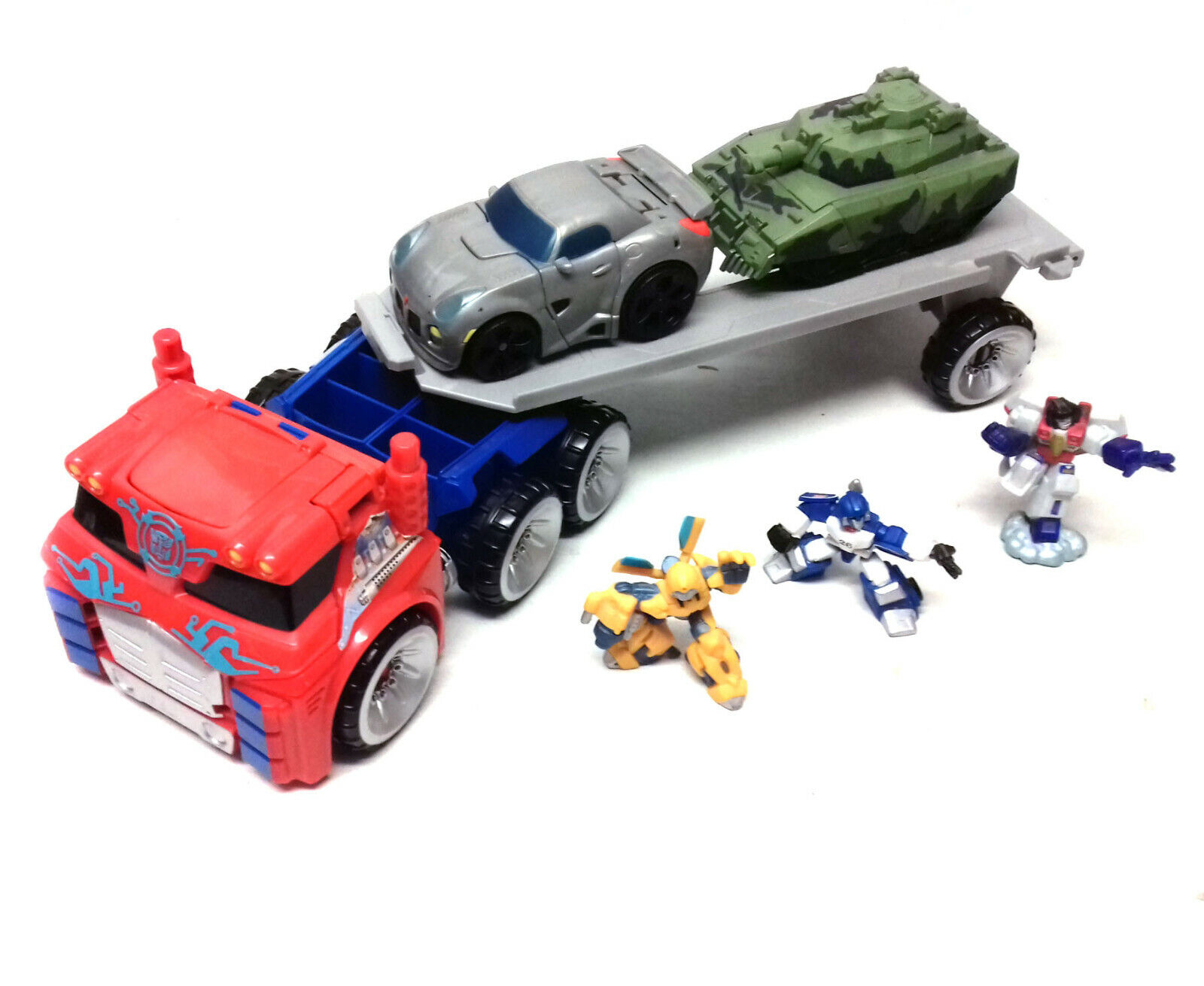 Transformers Robot Heroes Squad Toys  OPTIMUS PRIME PLAYSET with Figures & Cars