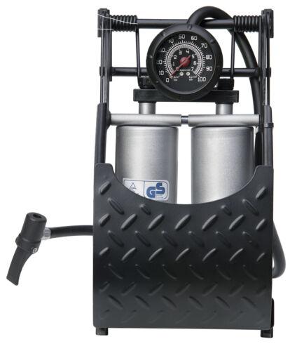 Van Car Bike Heavy Duty Hi-Performance Double Piston Air Inflator Foot Pump