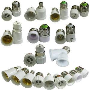 e12 e14 e27 b22 mr16 gu10 base socket adapter converter for led light lamp bulb ebay. Black Bedroom Furniture Sets. Home Design Ideas