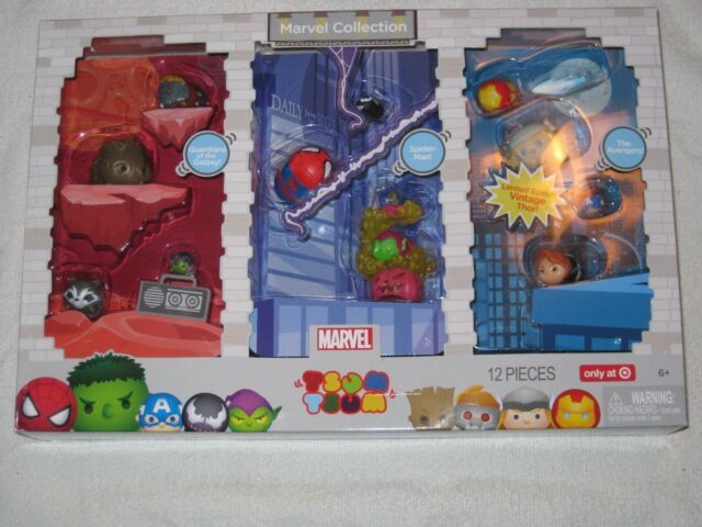 TSUM TSUM 12 Piece Marvel Collection Spiderman,Avengers,Vintage Thor More F//S