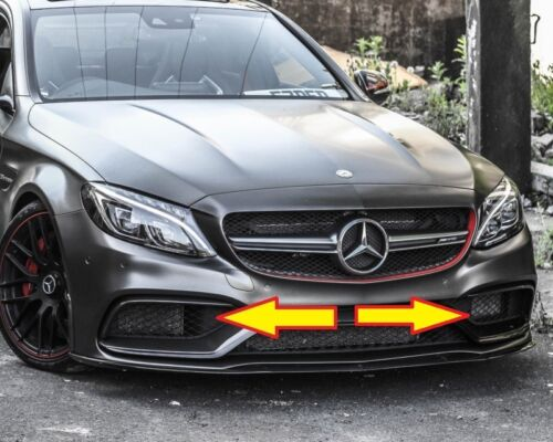 R Nuevo Genuino Mercedes MB C63 W205 AMG Parachoques Delantero toma de aire conducto Trim Set L