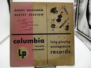 "Benny Goodman - Sextet Session 10"" LP Microgroove  LP Columbia CL 6052 VG+ c VG"