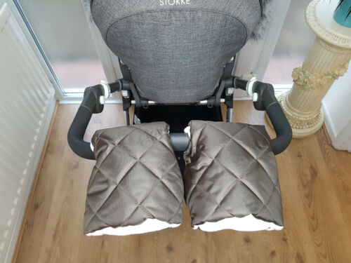 Pram Furs Set Hand Warmer /& Mittens Hand Muff Stroller Gloves With Fur Universal