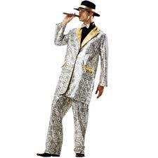 Piano Pimp Player Costume Adult Men Long Jacket Coat Hat Notes Burgundy Velvet