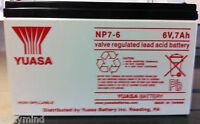 Brand Yuasa Np7-6 6v 7ah Sla Rechargeabl Battery, For Ups Systems, Emergency