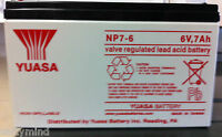Brand Yuasa Np7-6 6v 7ah Sla Rechargeabl Battery, For Ups Systems, Emergency