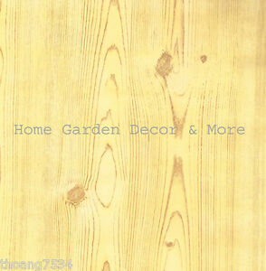 Light Golden Wood Grain Oak Vinyl Contact Paper Shelf