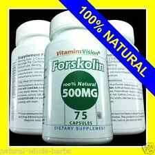 FORSKOLIN EXTRACT 100% PURE COLEUS FORSKOHLII Weight Loss 500MG 20% STANDARDIZED