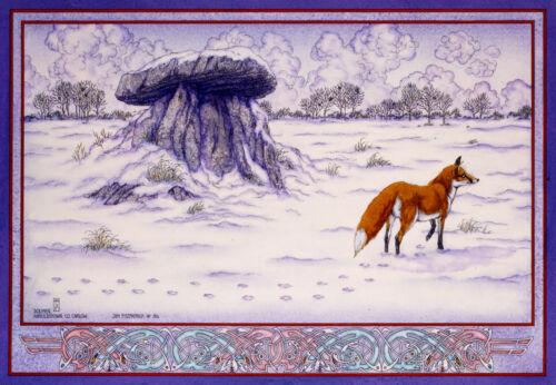 HAROLDSTOWN WINTER 8x11 By Jim FitzPatrick IRISH CELTIC LANDSCAPE DOLMEN