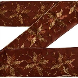 Vintage Sari Bagh Phulkari Border Antique Embroidered Trim Sewing Deco Lace Superior In Quality