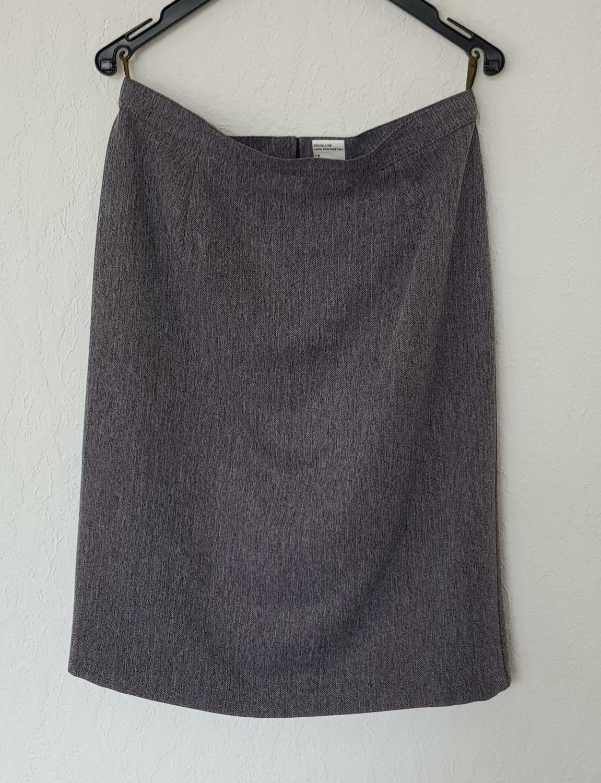 122D) Frz. Rock Grau Fischgräd Muster Größe 36 Taille 40 Made in France
