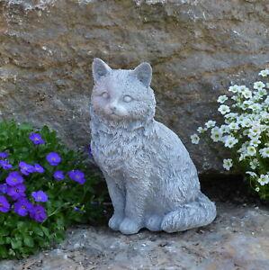 Massif Sculpture En Pierre Chats Figurine Décoration De Jardin