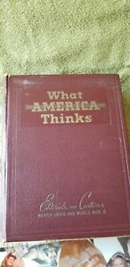1941 What America Thinks: Editorials And Cartoons Munich Crisis and World War II