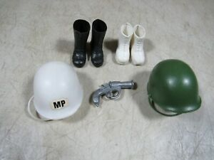 "Vintage 60/'s//70/'s 12/"" GI Joe Lot of 6 Silver Hand Grenades Accessories"
