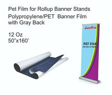 Jazzyflex Pet Material With Grey Back For Banners Stands 12oz 50 X 160 Roll
