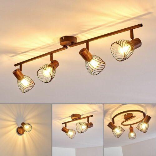 Decken Lampen Flur Dielen Strahler rostfarbene Wohn Schlaf Zimmer Beleuchtung