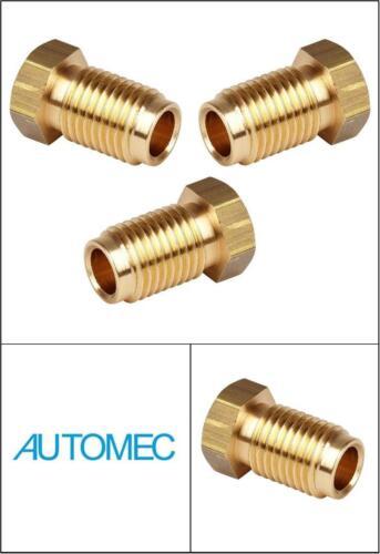 "AUTOMEC Brake Pipe Brass Union Fittings Male 7//16/"" UNF x 20tpi for 1//4 Pipe 3"
