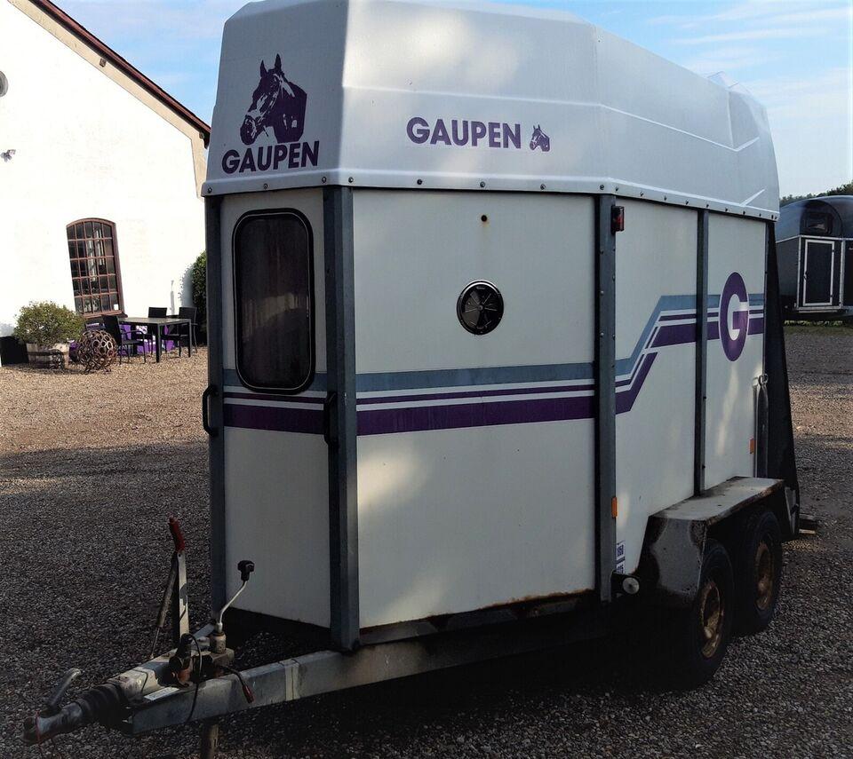 Hestetrailer Gaupen Hestetrailer år 2001, lastevne (kg):