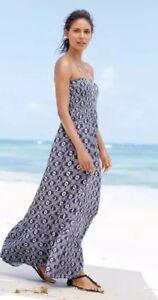 697cd38af69d NEXT Blue Print Floral Holiday Dress Maxi Size 12 Blue VGC Summer ...