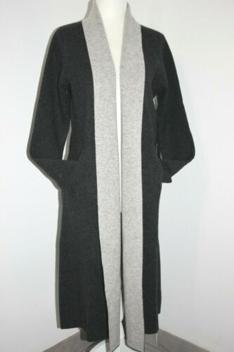 """TAHARI Double Face Luxe Cashmere Belted Knitted Coat 42/"""" Long  XS,S,M Thick Soft"""
