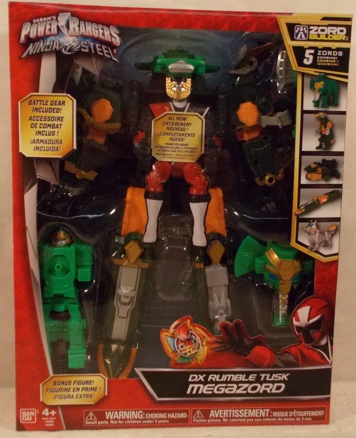 Power Rangers Ninja Steel Deluxe DX Rumble Tusk Megazord 5 Zords Combine  MISB