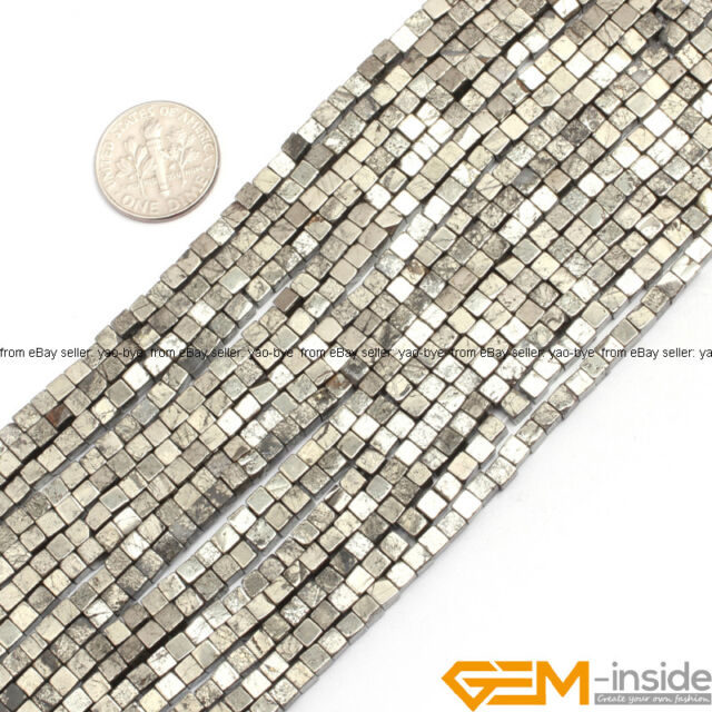 "Natural Pyrite Beads Jewelry Making Gemstone Beads 15"" Various Shape Wholesale"