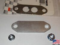 86-93 Ford Mustang Gt Or Lx 5.0 1/4in Billet Aluminum Egr Delete Plate Kit
