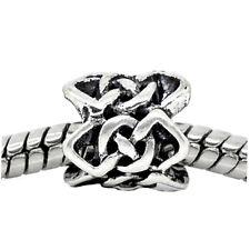 Celtic Knot Braided Crochet Pattern Spacer Bead fits European Charm Bracelets