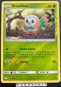 Carte-Pokemon-BRINDIBOU-17-236-REVERSE-Soleil-et-Lune-12-SL12-FR-NEUF